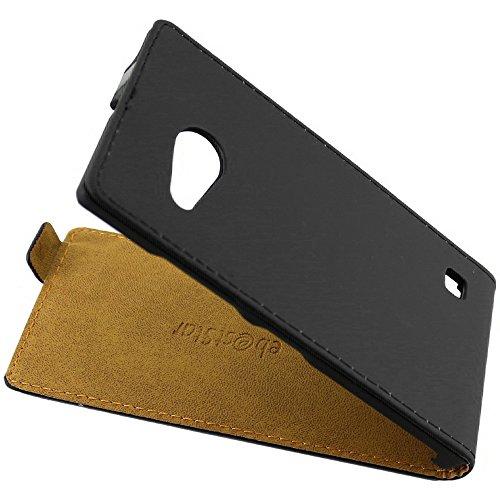 ebestStar - kompatibel mit Nokia Lumia 735 Hülle Lumia 730 dual PU Kunstleder Etui mit Klappe, Handyhülle Schutzhülle Hülle Cover, Schwarz [Phone: 134.7 x 68.5 x 8.9mm, 4.7'']