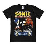 Logoshirt Nerd Sonic The Hedgehog - Camiseta de Manga Corta para Hombre, Color Negro Negro Negro (5X-Large