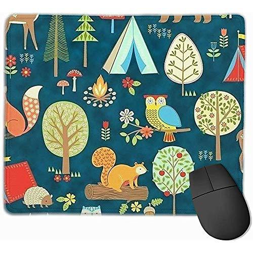 rutschfeste Mousepad Eulen-Bier-Baum-Spiel-Mausunterlage-Matte für Büro und Zuhause