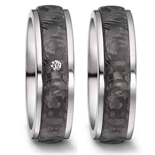 CORE by Schumann Design Trauringe Eheringe aus Titan & Carbon Kombination Bicolor mit echten Diamanten GRATIS Gravur 20002726