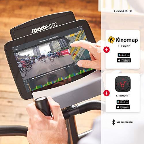 SportPlus Crosstrainer mit App-Steuerung, Google Street View, Wattanzeige, ca. 17kg Schwungmasse, 24 Widerstandsstufen, Handpulssensoren, Nutzergewicht bis 150kg, Sicherheit geprüft Bild 4*