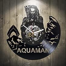 Vinyl wall Clock, Aquaman, Wall Decor, Justice League, 2017, Home Decor, Xmas Gift, Vinyl Record, Pop Modern Wall Art, New Year Gift, DC Comics, Movie, Best Gift for Boyfriend, Handmade Clock