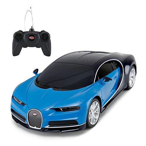 Rastar Bugatti Veyron Chiron RC Auto Maßstab 1: 24Fernbedienung Spielzeug Auto, Bugatti Chiron R/C Modell Fahrzeug für Kinder–Blau