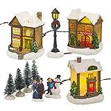Villaggio natalizio in inverno con luci a LED [255744]
