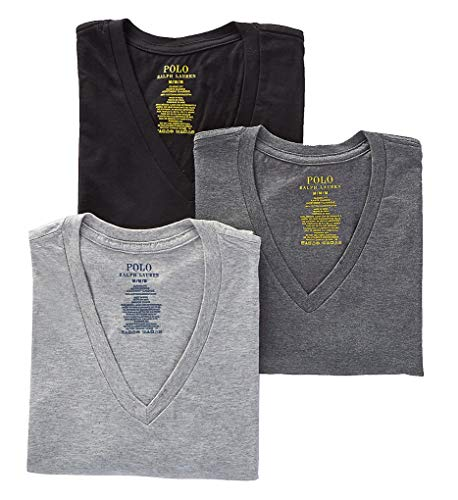 Polo Ralph Lauren Mens Classic Fit w/Wicking 3-Pack V-Necks