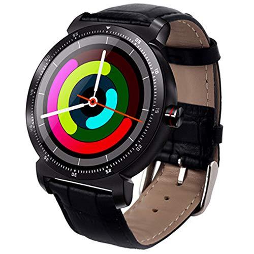 ZZJ Elegante de la Pantalla del Color del Reloj de Bluetooth Hombres Mujeres Ritmo cardíaco Detección del sueño Relojes Deportivos al Aire Libre Deportes Reloj de Pulsera,A