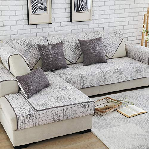 Homeen überzug Couch,Couch überwurf,Arbeitszimmer- / Büro-Sofabezug,Sofakissenbezüge mit Graffiti-Print,gesteppter Sofaüberwurf aus Stoff,Couch-Handtuch aus Baumwolltwill-Weiß_70 * 70 cm