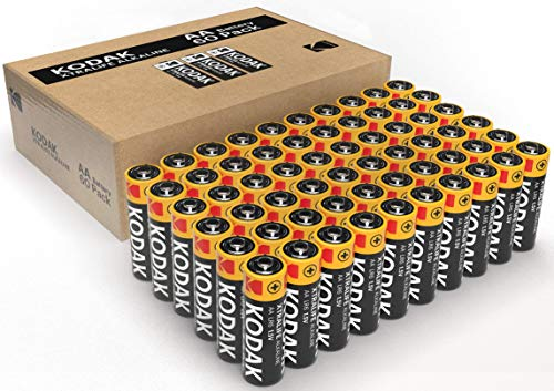 KODAK Quality Kodak Alkaline AA Batteries x 60 pack – Giving you more power for your pound