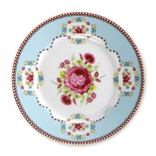 PiP Studio Big Flower Dessertteller blue