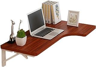 XXZDZ- Table Murale à abattant, Table à Manger en Bois Massif/Bureau d'ordinateur/Table d'angle, Couleur: Pomelo Rouge (Ta...