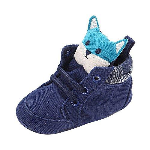 kingko® Prewalker Cartoon du nouveau-né bébé Enfants Lacet Toddler antidérapants Chaussures semelle souple (6~12 Mois)