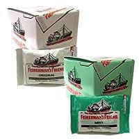 フィッシャーマンズ フレンド ストロング ミント (緑)(白)セット (各24袋入BOX×2)