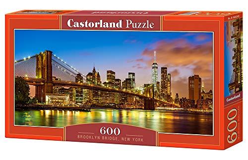 Castorland Brooklyn Bridge, New York 600 pcs Puzzle - Rompecabezas (New York 600 pcs, Puzzle rompecabezas, Ciudad, Niños y adultos, Niño/niña, 9 año(s), Interior) , color/modelo surtido