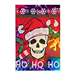 Jigsaw Puzzles Santa Skull Candy Cane Ugly Christmas Sweater Large Wooden Puzzles for Adults 300 Piece
