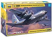 ズベズダ 1/72 アメリカ空軍 C-130H ハーキュリーズ プラモデル ZV7321