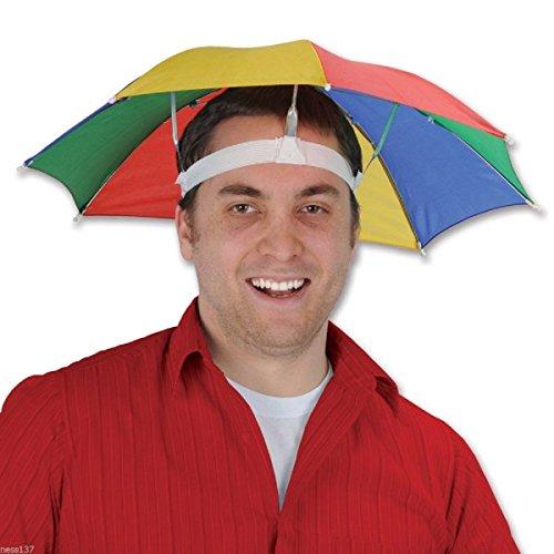 La Petite Caverne- Chapeau Parapluie pour tête idéal pour Festival, Concerts, Peche