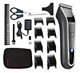 Wahl Lithium Pro LED Recargable Gris, Acero inoxidable - Afeitadora (Gris, Acero inoxidable, Cilindro, 1 mm, 4,6 cm, 100 min, Integrado)