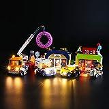 BRIKSMAX Kit de LED pour Lego City L'Ouverture du Magasin de Donuts,Compatible avec la Maquette Lego 60233, La Maquette de Construction n'est Pas Incluse