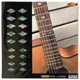 Fretboard Markers Inlay Stickers Decals for Guitar, Bass & Ukulele - Traditional Diamonds - Abalone Mix