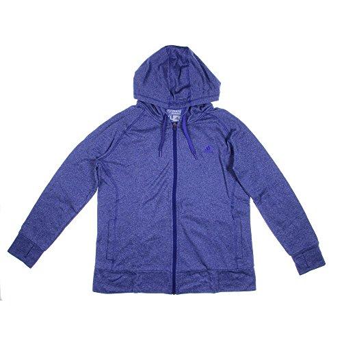 adidas Performance Women's Ultimate Fleece Full-Zip Hoodie, Small, Purple
