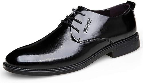 JIALUN-des Chaussures Chaussures de Ville Simples décontractées pour Hommes en Cuir Oxford Décontracté Fashion Classic (Couleur   Noir, Taille   40 EU)