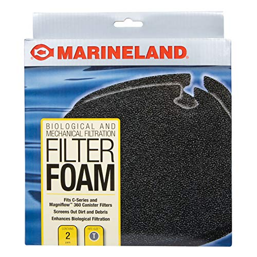 Marineland Filter Foam 2 Count, Supports Biological And Mechanical aquarium Filtration, Rite-Size T