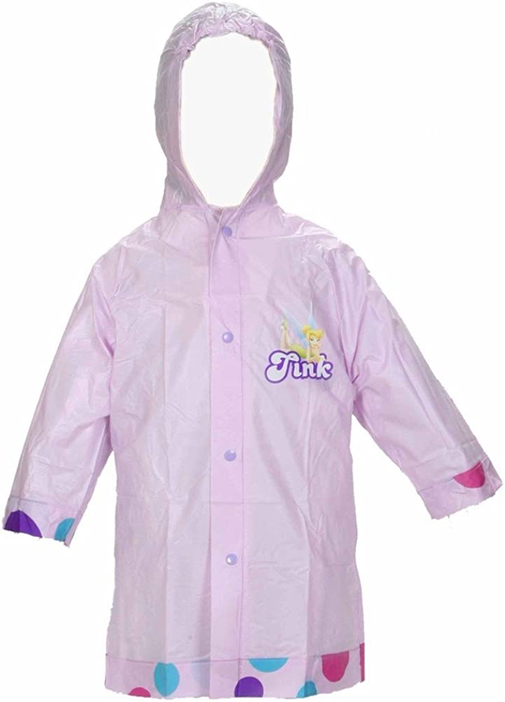 Tinkerbell Disney Fairies Girl's Purple Rain Slicker Size Small Medium Large
