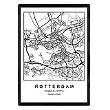 Nacnic Drucken Stadtplan Rotterdam skandinavischen Stil in