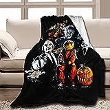 Fri-Ends - Manta de franela de Halloween para todas las estaciones, cálida para sofá cama, suave, de lujo, cálida sala de estar, dormitorio (multicolor, M 100 x 150 pulgadas)