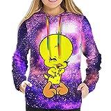 Tw-Eety Bird-4 Woman Standard Fleece Hoodie Loose Casual With Pockets Hooded Sweatshirt Xl