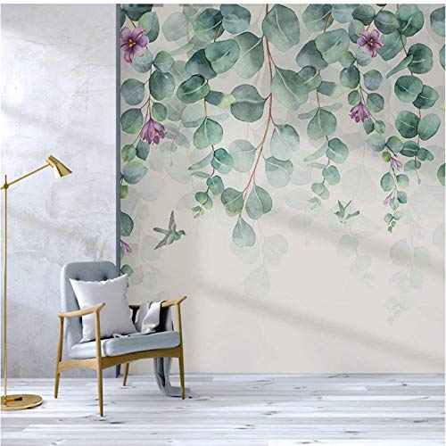 Papel Pintado Pared Flores y Pajaros Marca ponana