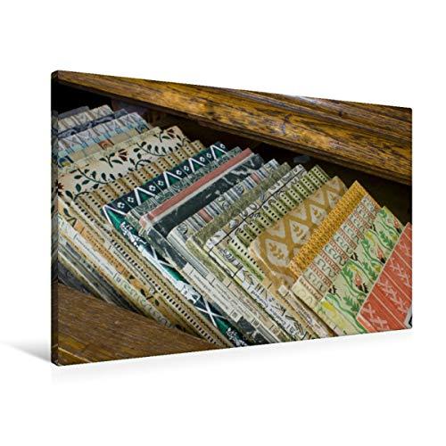 Premium Textil-Leinwand 90 x 60 cm Quer-Format Antiquarische Bände aus dem Insel-Verlag | Wandbild, HD-Bild auf Keilrahmen, Fertigbild auf hochwertigem Vlies, Leinwanddruck von Ulrike Gruch