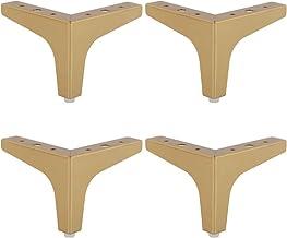 Bankkoten, roestvrij staal, meubelpoten, driehoek, tv-kast, benen, salontafelvoeten, rubberen pad beschermen de vloer demp...