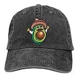 Gorra de béisbol ajustable con fragancia de hoja de loto, diseño de hombre de aguacate con sombrero