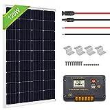 ECO-WORTHY 120 Watts Solar Panel Off Gird RV Boat Kit :120W Mono Solar Panel +20A LCD Charge Controller+Z Brackets