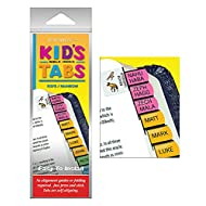 G.T. Luscombe Company, Inc. Kid's Rainbow Verse Finder Bible Tabs with Animal Icons   Easy to Install, Self-Aligning, Just Press & Stick   Horizontal Text   Complete Set of Old & New Testaments Tabs