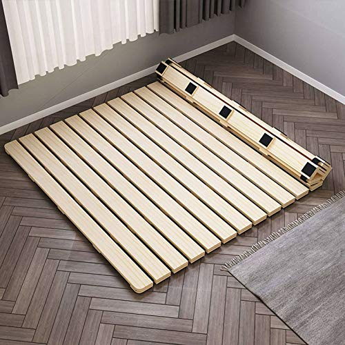 HUANXA Japanese Foldable Futon Mattress Support, Solid Wood Bed Board Roll Up Easy To Store Bed Board For Full Twin Queen Size Floor Mattress-135x200cm(53x79inch)
