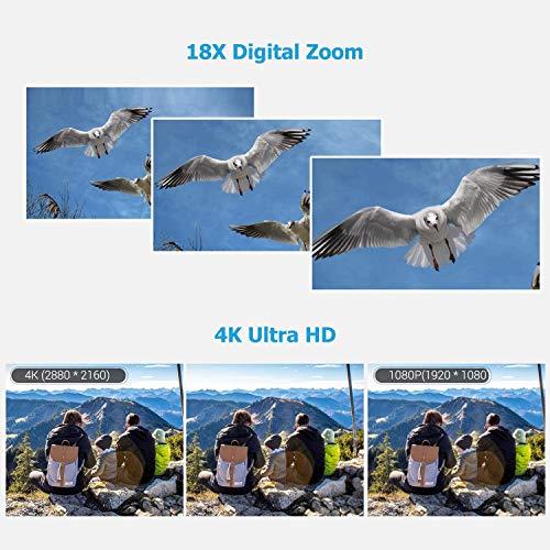 Andoer 4K Ultra HD Handheld DV Professional Digitale Videokamera CMOS-Sensor-Camcorder mit 0,45-fachem Weitwinkelobjektiv und Makro-Stereo-On-Camera-Mikrofon Hot Shoe Mount Anti-Shaking-Funktion