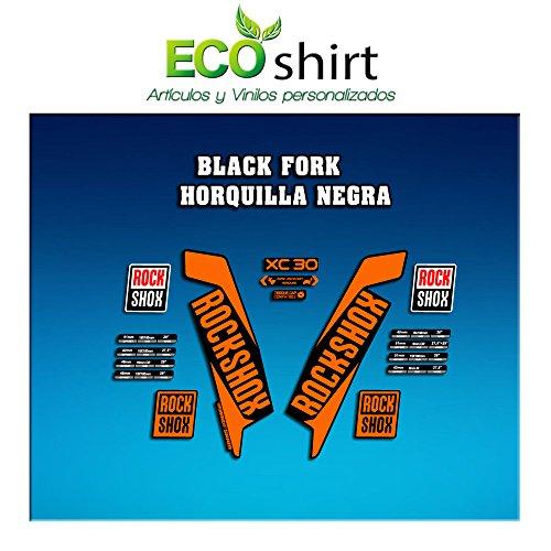 Ecoshirt OF-S5M0-BNVX Aufkleber Stickers Fork Rock Shox Xc30 2017 Am124 Aufkleber Decals Autocollants Adesivi Forcela, Orange