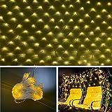 LED Cortina De Luces Exterior, 8 Modos Luz Con Temporizador Regulable...
