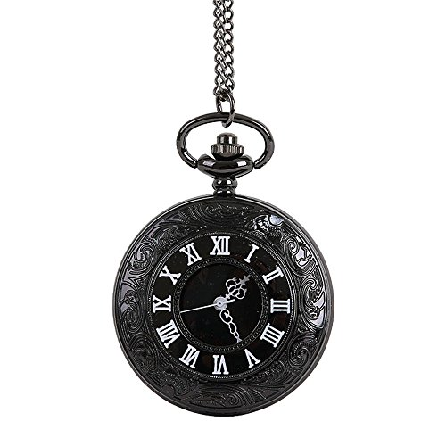 Great Features Of Muranba 2019 ! Vintage Flower Pocket Watch Quartz Necklace Chain Men Women for Gir...