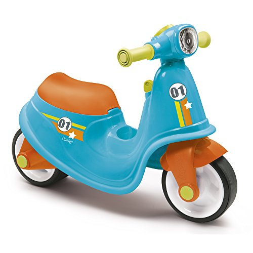 Smoby - 721001 - Porteur Enfant Scooter avec Roues Silencieuses - Bleu