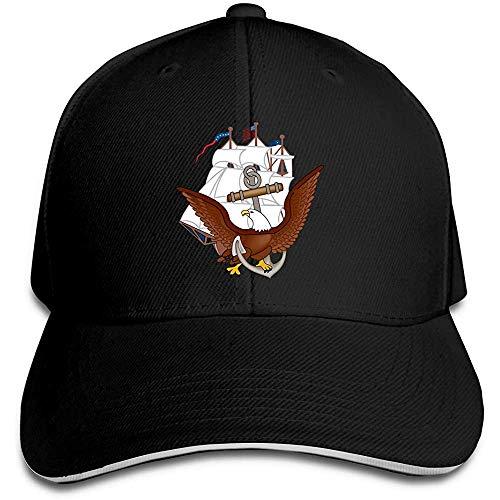 Gorra de béisbol ajustable con visera ajustable para camión, diseño de ancla de la Marina de los Estados Unidos