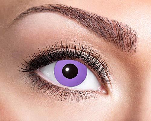 EYECATCHER Farbige Kontaktlinsen violett, ohne Stärke - Farblinsen Kontaktlinsen Halloween - Weiche Kontaktlinsen inkl. Pflegemittel und Aufbewahrungsbox (Purple Gothic)