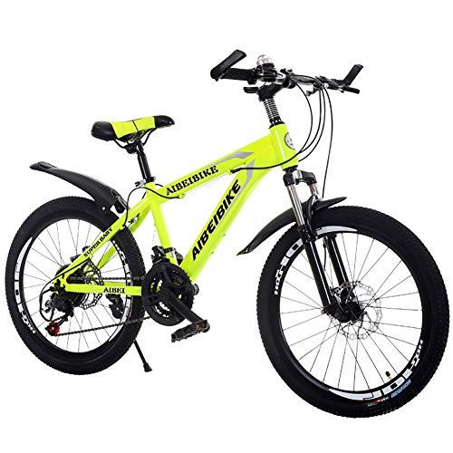 FXPCYGZ Mountain Bike per Adulto, Mountain Bike per Studente con Ammortizzatore A Doppio Disco E Freno, Bicicletta per Bambini da 20 Pollici Biciclo Bicicletta per Mountain Bike Bicicletta