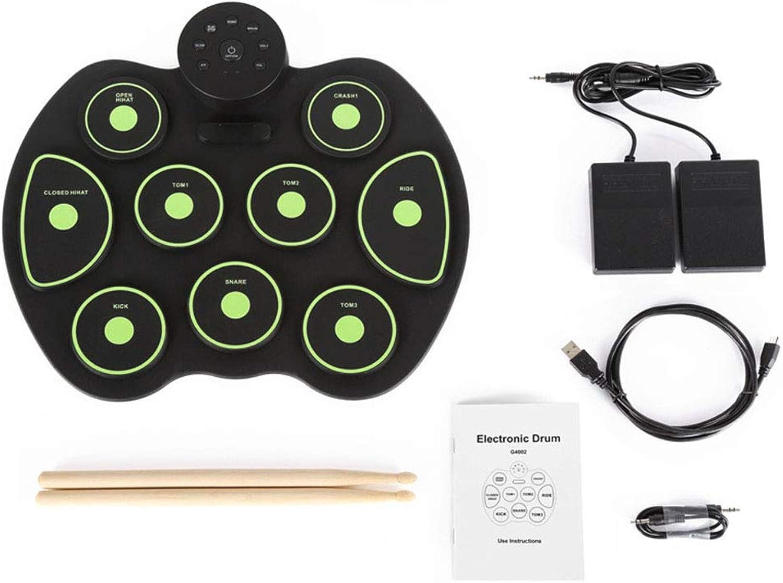 selección larga Lhl Baterías para Niños, batería de Mano Mano Mano Rollo Música Música Educación temprana Simulación ilustrada Batería de práctica de batería de percusión Instrumentos de percusión,verde  nueva marca