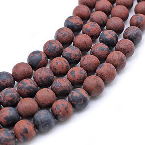 Perlas sueltas redondas de piedra de cisne de oro mate natural para hacer joyas DIY pulsera collar 4/6/8/10/12 mm hebra 15 pulgadas oro 12mm aproximadamente 30 cuentas