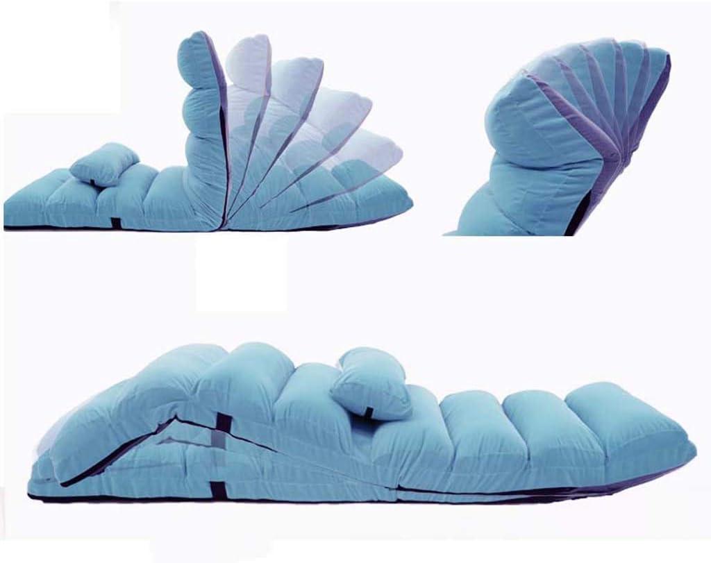 ETJar Canapé-lit pliant réglable pour la maison Lazy étage Canapé Chaise Fauteuil méditation, regarder la télévision ou jouer, multicolore en option,marron Rose