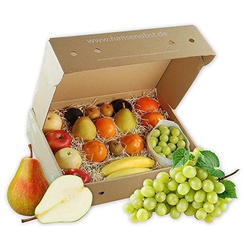 Business-Probier-Obstbox mit frischem Obst für gesunde Ernährung am Arbeitsplatz in umweltbewusster Geschenkbox