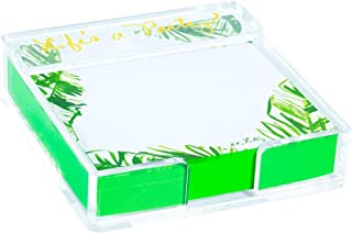 Lilly Pulitzer Acrylic Holder and Loose Notes, Painted Palm